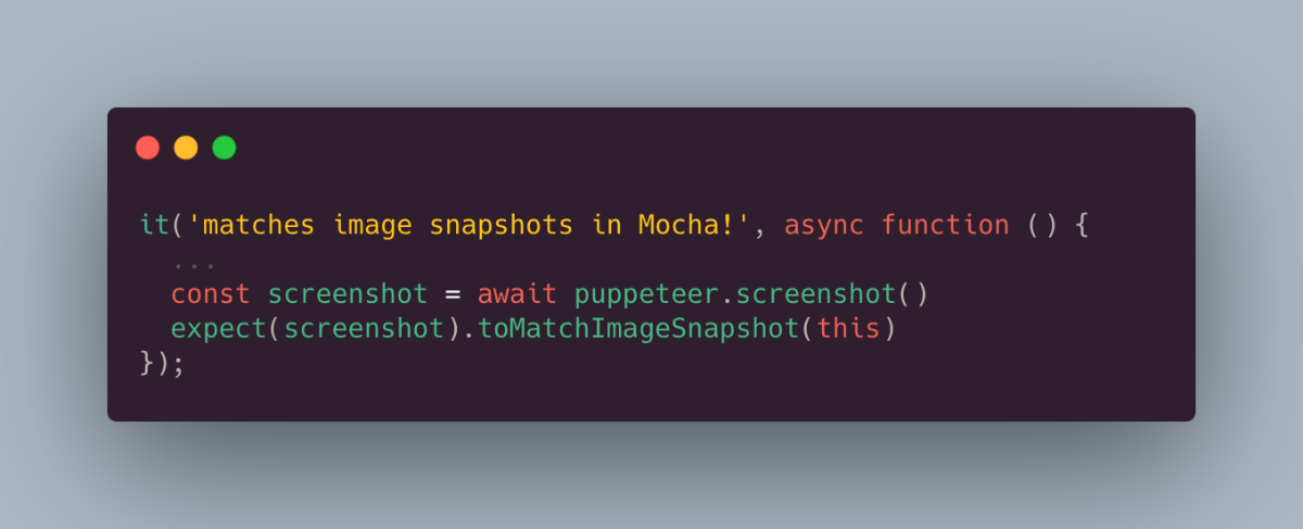 Cover image for Image Snapshot Testing with Mocha